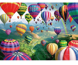 Hot Air Balloon World 5D DIY Paint By Diamond Kit