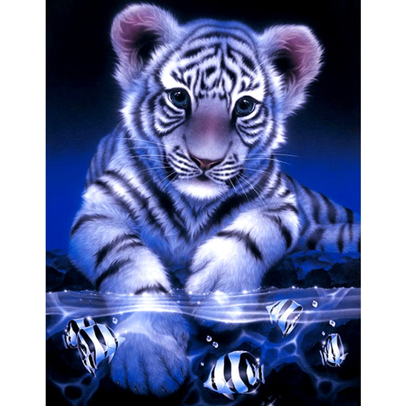 Tigers & Fish 5D DIY Paint By Diamond Kit - Paint by Diamond