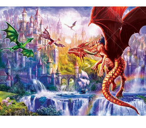 Dragon World 5D DIY Paint By Diamond Kit