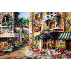 Town Market 5D DIY Paint By Diamond Kit