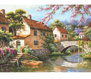 Riverside View  5D DIY Paint By Diamond Kit