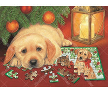 Dog In Puzzle 5D DIY Paint By Diamond Kit