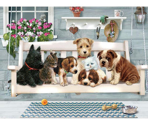 Lovely Dog Cat 5D DIY Paint By Diamond Kit