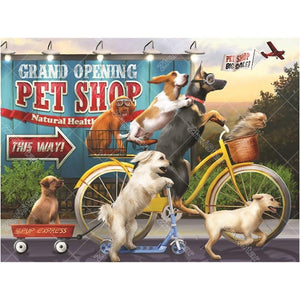 Cycling dog 5D DIY Paint By Diamond Kit