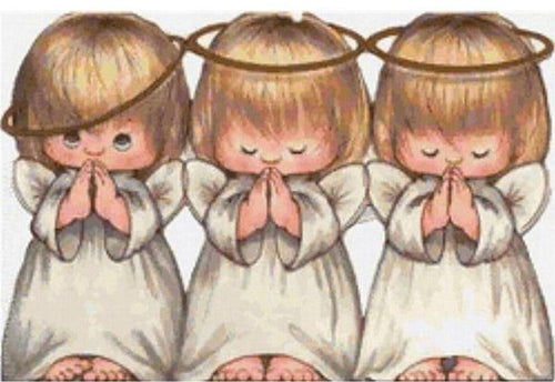 Three Little Angels 5D DIY Paint By Diamond Kit