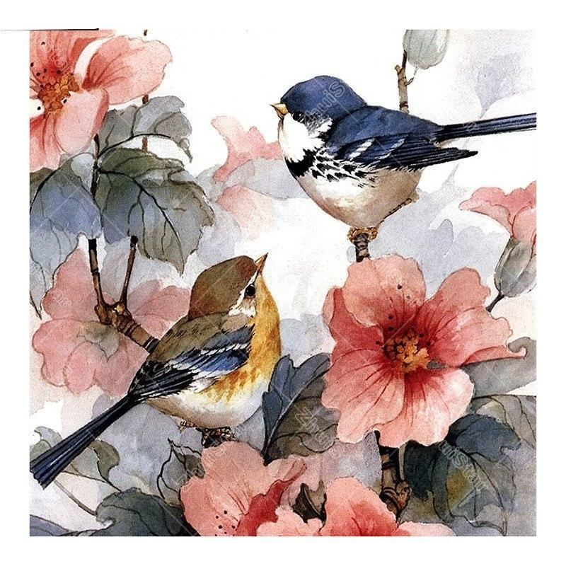Two Birds In Love 5D DIY Paint By Diamond Kit - Paint by Diamond