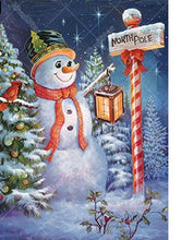 Cute Snowman 5D DIY Paint By Diamond Kit