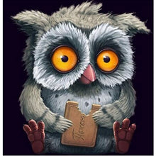Cute Hungry Owl 5D DIY Paint By Diamond Kit - Paint by Diamond