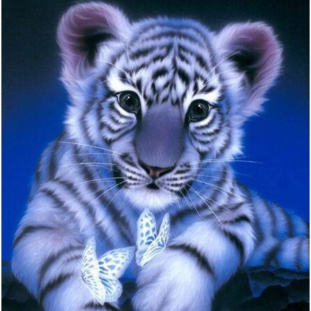 Cute Cub With Butterflies 5D DIY Paint By Diamond Kit - Paint by Diamond