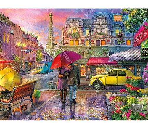 Raining in Paris 5D DIY Paint By Diamond Kit