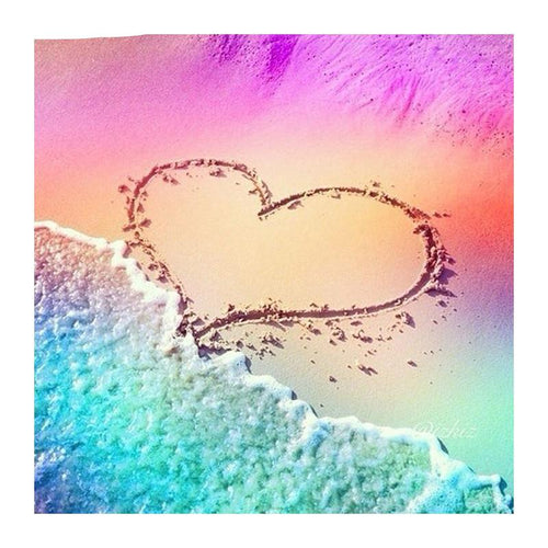 Love Beach 5D DIY Paint By Diamond Kit