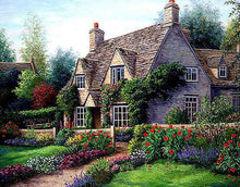 Scenic Country Cottage 5D DIY Paint By Diamond Kit - Paint by Diamond