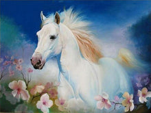 White Horse 5D DIY Paint By Diamond Kit
