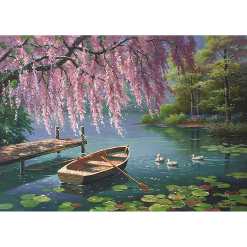 Pond & Canoe 5D DIY Paint By Diamond Kit - Paint by Diamond