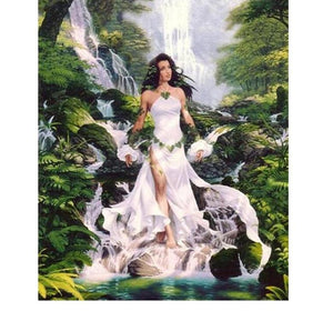Waterfall & The Beauty 5D DIY Paint By Diamond Kit - Paint by Diamond