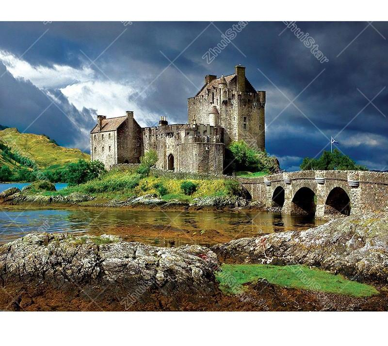 Majestic Castles 5D DIY Paint By Diamond Kit