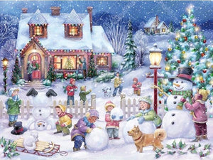Christmas Town  5D DIY Paint By Diamond Kit