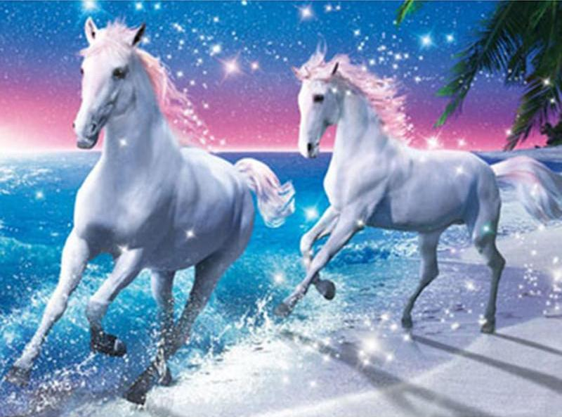 Majestic Horses 5D DIY Paint By Diamond Kit - Paint by Diamond