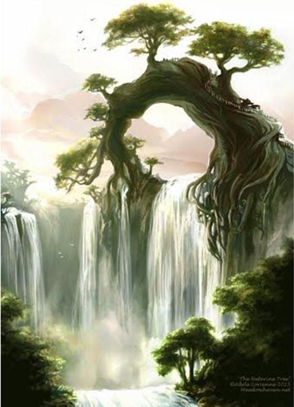 Waterfall In The Rain Forest 5D DIY Paint By Diamond Kit - Paint by Diamond