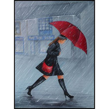 Girl With Red Umbrella 5D DIY Paint By Diamond Kit - Paint by Diamond
