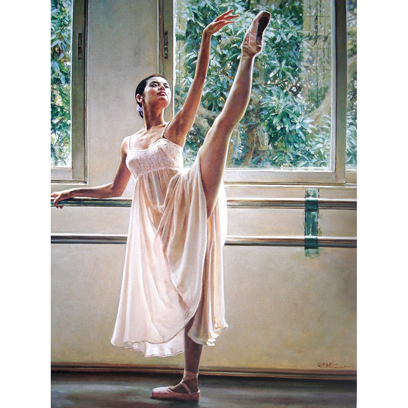 Ballet Dancer 5D DIY Paint By Diamond Kit - Paint by Diamond