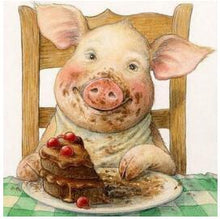 Cute Pig & Cake 5D DIY Paint By Diamond Kit