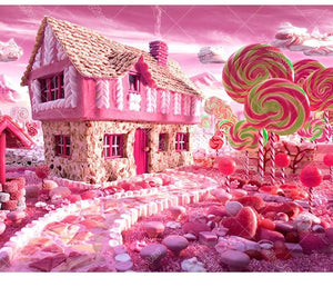 Candy House 5D DIY Paint By Diamond Kit