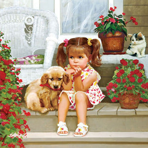 Cute Baby & Puppy 5D DIY Paint By Diamond Kit