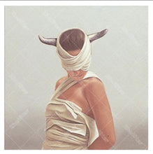 Girl with Silver Horn 5D DIY Paint By Diamond Kit
