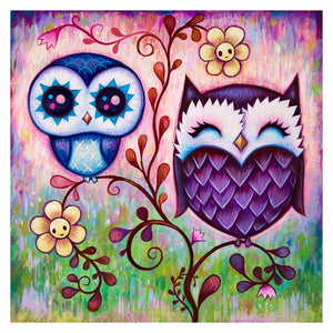 Lovely Two Owls 5D DIY Paint By Diamond Kit
