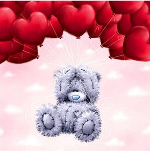 Heart Cartoon Bear 5D DIY Paint By Diamond Kit