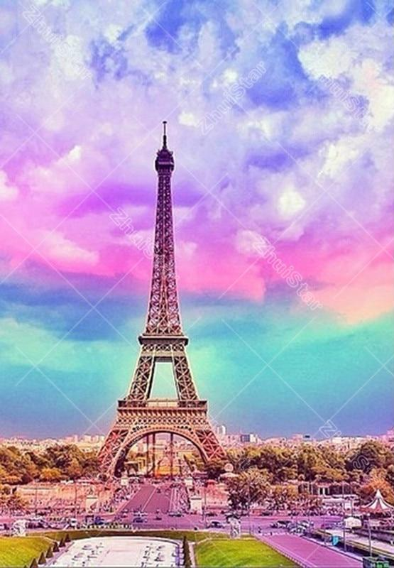 Eiffel Tower 5D DIY Paint By Diamond Kit