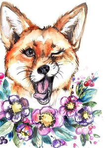 Flower & The Fox 5D DIY Paint By Diamond Kit
