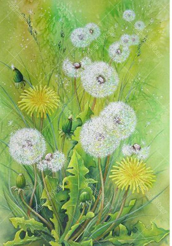 Dandelion Flower 5D DIY Paint By Diamond Kit