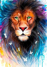 Colorful Lion 5D DIY Paint By Diamond Kit