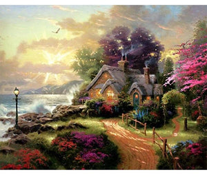 Fairy Tale Cottage 5D DIY Paint By Diamond Kit