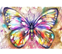 Multicolored Butterfly  5D DIY Paint By Diamond Kit