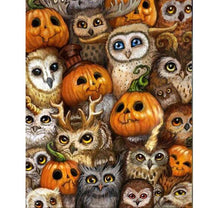Pumpkin & Owl 5D DIY Paint By Diamond Kit