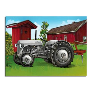 Tractor 5D DIY Paint By Diamond Kit