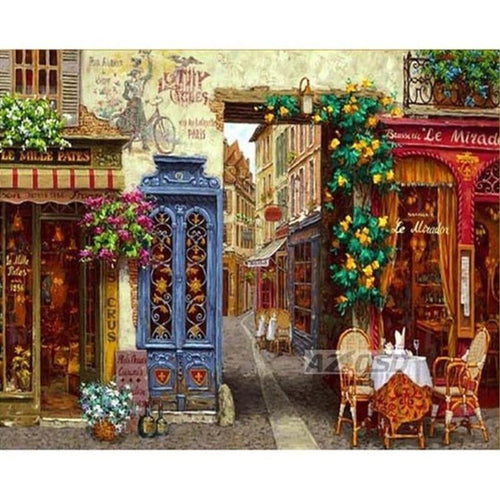 Old City Street Shop 5D DIY Paint By Diamond Kit