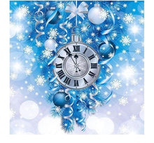 Snow Clock 5D DIY Paint By Diamond Kit