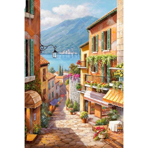 Small town 5D DIY Paint By Diamond Kit