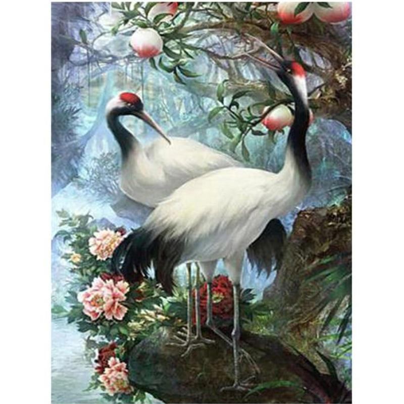 Couple Cranes 5D DIY Paint By Diamond Kit