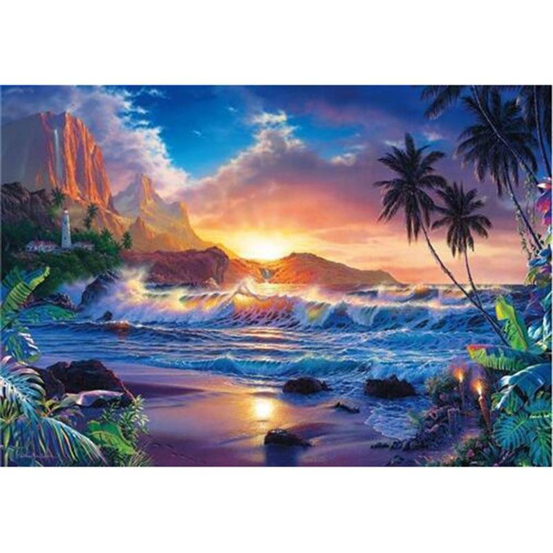 Landscape seaside 5D DIY Paint By Diamond Kit