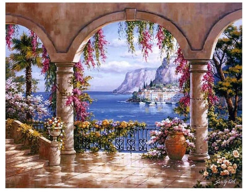 Seaside Scenery 5D DIY Paint By Diamond Kit
