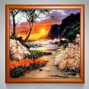 Sea & Sunset 5D DIY Paint By Diamond Kit