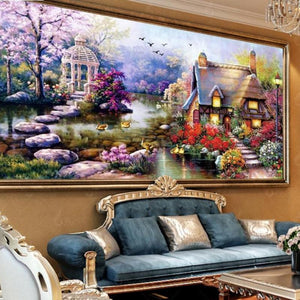 Scenic Wall Sticker 5D DIY Paint By Diamond Kit
