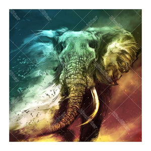 Ivory Elephant 5D DIY Paint By Diamond Kit