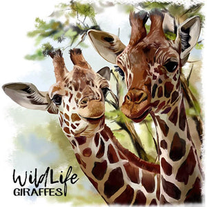 Giraffe Couple 5D DIY Paint By Diamond Kit