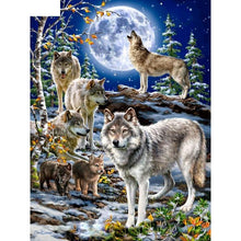 Wolf Family 5D DIY Paint By Diamond Kit